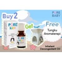 Pure Kids Inhalant Decongestant Oil 2pk