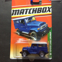 matchbox '68 toyota land cruiser blue (biru) jungle explorers