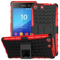 sony xperia M5 rugged armor case cover armor with stand