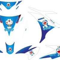 modif stiker yamaha NEW jupiter MX doraemon