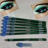 eyeliner pencil pensil hijau bawah mata gliter kerlip