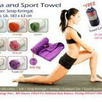 harga [SUPER MURAH] Yogamat towel   handuk yoga   alas yoga myurah grisir Tokopedia.com