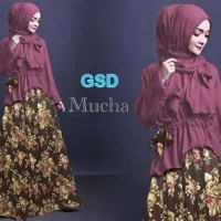 Gamis Wanita / Baju Muslim / Dress / Gaun Pesta mocha set G-202