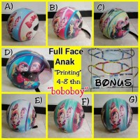 Helm Anak Boboboy Murah Full Face Free Masker Bagus