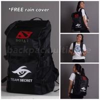 Tas Gaming Backpack Ultimate Bag Ransel Dota2 Dota 2 CS:GO Team Secret