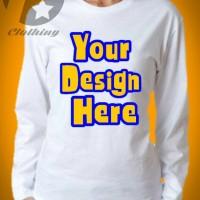 """Kaos Distro Lengan Panjang """" Design Sendiri """""""