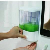 Jual Dispenser sabun 2in1 ( tempat shampoo otomatis alat sikat panci ) Murah
