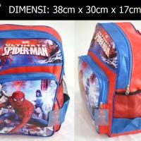 Jual Tas Spiderman Marvel kartun super hero ransel sekolah SD anak laki Murah