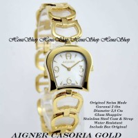 JAM TANGAN WANITA AIGNER CASORIA GOLD (ORIGINAL SWISS MADE)