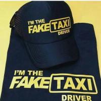 PAKET KAOS DAN TOPI I'M THE FAKE TAXI DRIVER