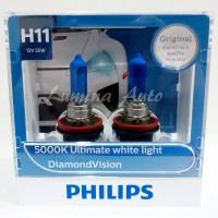 Philips Diamond Vision H11 55 Watt - Lampu Halogen Mobil Putih 5000K