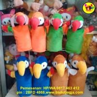 harga Boneka Tangan Hewan Burung Makau /Kakatua/Rangkok/Elang/Nuri 30 cm Tokopedia.com