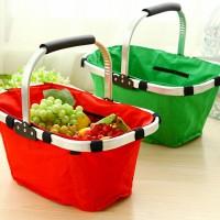 shopping folded basket veggie vegetable keranjang sayur buah belanja