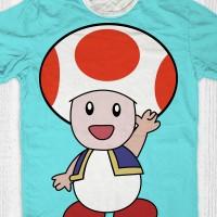 harga Kaos Super Mario Bros Anak / Dewasa - Toad Greet Tokopedia.com