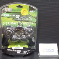 Game Shock Gamepad Single Dual Shock Controller USB Red - GMS-HY-8103