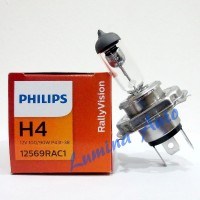 Jual Philips Rally Vision H4 100/90 Watt - Lampu Halogen Mobil 12V Murah