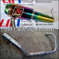 Full Stainless Akrapovic Lorenzo Rainbown For CBR250R & Ninja RR Mono