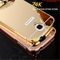 Case Galaxy NOTE 3 NEO N7505 Aluminum Bumper Mirror Hard Back Case