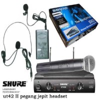 harga microphone mic shure wireless UT42 isi hand mic dan clip on headset Tokopedia.com