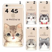 HARD CASE MEOW CUTE CAT FACE FOR IPHONE 4 4S