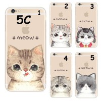 HARD CASE MEOW CUTE CAT FACE FOR IPHONE 5C