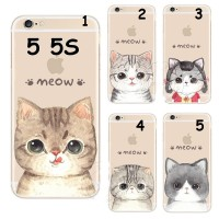 HARD CASE MEOW CUTE CAT FACE FOR IPHONE 5 5S SE