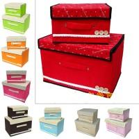 STORAGE BAG BOX ORGANIZER TEMPAT PENYIMPANAN BAJU MAINAN DLL (2)