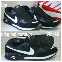 NIKE MD RUN BLACK WHITE / NIKE MD HITAM PUTIH / NIKE MD RUNNER