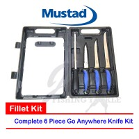 Mustad Pro Fillet Kit - Set Pisau dengan Talenan