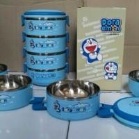 Lunchbox (rantang stainless) Doraemon susun 4 dan boboy Susun 4