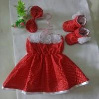 harga Dress Polka Ungu Set Headband + Sepatu Boots Anak / Baby Tokopedia.com