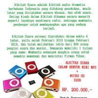ALKITAB SUARA DALAM BENTUK MINI MP3 + MICROSD 32GB