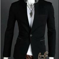 Blazer Korea Black, Blazer Santai Dan Resmi, Jas Blazer Korea Pria