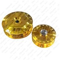 Tromol Set Mio Soul GT 125 Cc Gold (Depan + Belakang)