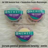harga Jarum Pentul Premium Newey Warna Warni Satin (isi 100 + Bantalan Pentul) Tokopedia.com