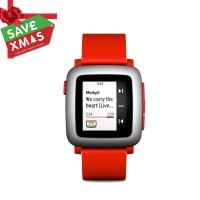 Smart Watch | Pebble Time Smartwatch - Red