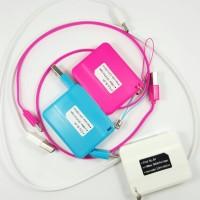 Kabel Data Tarik Gulung 1M Micro USB Samsung BB IPhone Charge