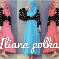 Iliana Hijab Polka Set 3in1