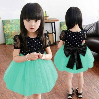 Ribbon Dot Soft Green Bhn Atas Spndex Brukat Bwh Tile Spndex 3-5th