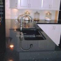 Meja Granit Hitam Emas, Granit Meja Kitchen SetType Granit Black Galaxy