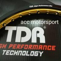 Velg TDR 2 tone hitam gold / set