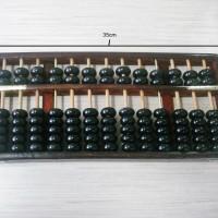 harga Sempoa 13 baris besar hitam kilap kayu / simpoa / xuan ban Tokopedia.com