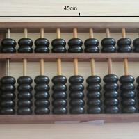 harga Sempoa 15 baris besar hitam kilap kayu / simpoa / xuan ban Tokopedia.com