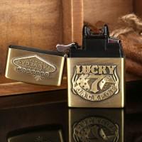 Korek Api Elektrik Besi Motif Lucky 7 Vegas Gold Untuk Rokok