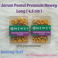 harga Jarum Pentul Premium Newey Panjang / Long 4.5cm Kuning Doff Tokopedia.com