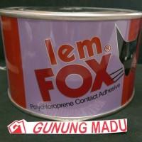 harga LEM FOX KUNING 300 GR / LEM KARPET SENDAL KULIT KAYU HPL KARET Tokopedia.com