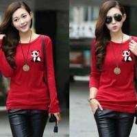 Baju Wanita / Kaos Perempuan / Cewek Blouse Red Panda