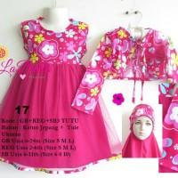 harga dress gamis bolero anak muslim labella 2 - 6 tahun S M L Tokopedia.com