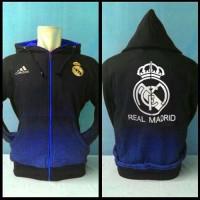 Jaket Sweater Resleting Real Madrid # Hoodie Flanel Pria Wanita Jogger