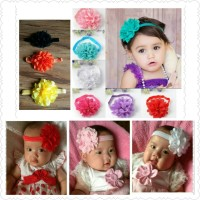 pita bayi dan anak perempuan bando headband bunga